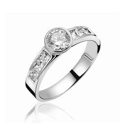 Zilveren ring prinses geslepen zirkonia Zinzi