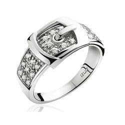 Zinzi Zilveren Ring Gesp Wit Zirkonia Zir682