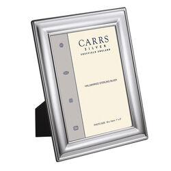 Gladde verzilverde fotolijst van Carrs 18 x 13 cm lrw482-sp