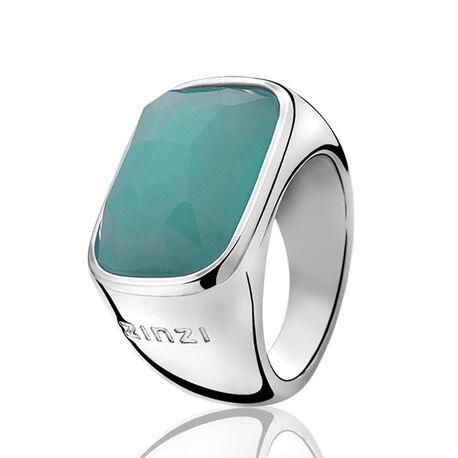 Zilveren Ring turquoise zirkonia Zir675