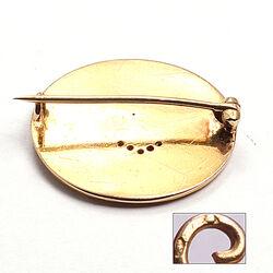 Gouden broche met diamantjes Art Nouveau