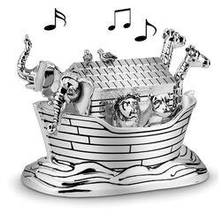 Verzilverd muziekdoosje ark van noach