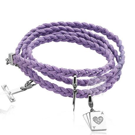 Paarse gevlochten armband van Zinzi zbf11p