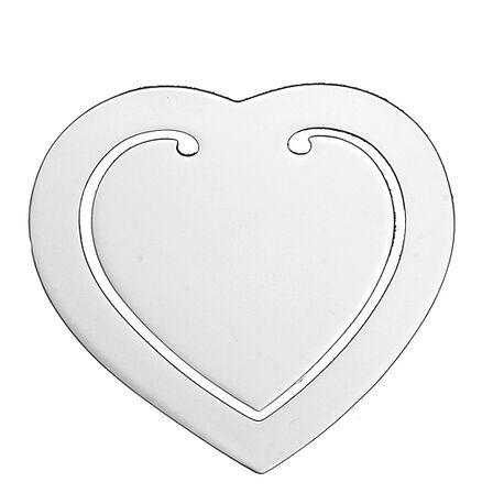 Bladwijzer hart verzilverd