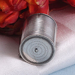 Zilveren Centimeterhouder Rib