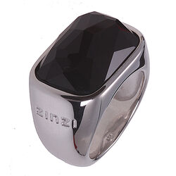 Zilveren ring zwarte zirconia ZIR677 Zinzi