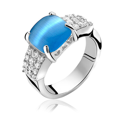 Zinzi Ring Blauw Wit Zirkonia Zir667b