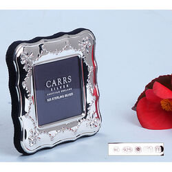 Carrs Zilveren Fotolijst Strikjes Guirlandes Ba120
