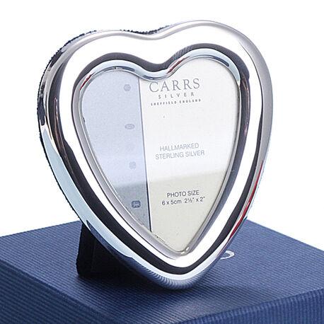 Zilver fotolijstje hart Carrs
