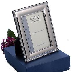 Carrs fotolijst zilver parelrand Lrw287