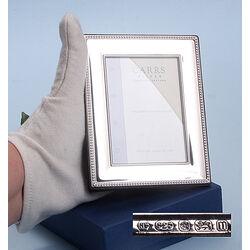 Zilveren fotolijstje parelrand lrw287