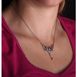 Zilveren ketting hart met swarovski