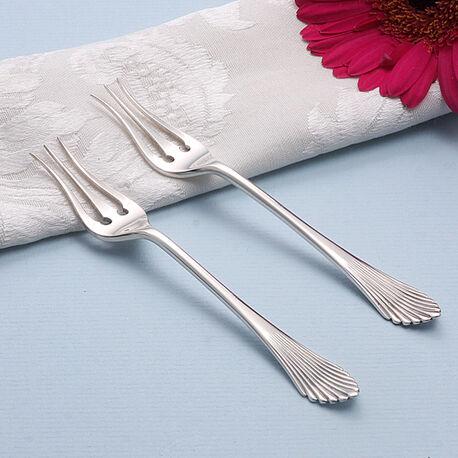 stel zilver zuurvorkjes model Waaier