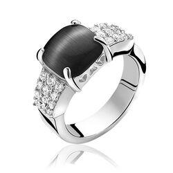Zinzi ring met zwart zirconia Zir667z