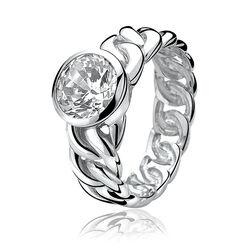Zilveren Zinzi gevlochten ring Zir655