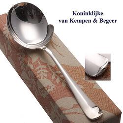 Zilveren aardappellepel Haags Lofje 21 cm