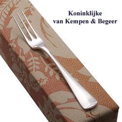 Zilveren dessertvork 18 cm Haags lofje