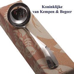 Zilveren sauslepel 16 cm Haags lofje