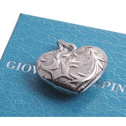 zilveren bedel of hanger hart