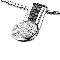 Zilver hanger zwart wit Zih669 Zinzi