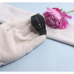 Zwart rubberen heren horloge van Edox