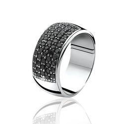 Zinzi ring zwart zirconia Zir506z