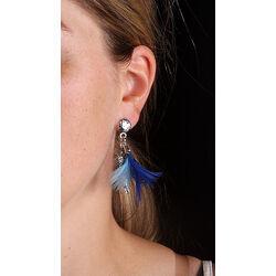 Blauwe oorbellen papegaai Raspini