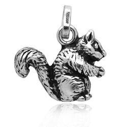 Zilveren eekhoorn Raspini charms
