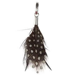 Raspini charms zwarte veren met witte stippen