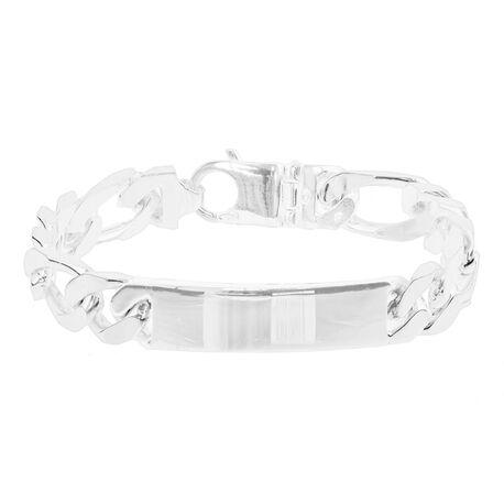 zilveren naamplaat armband voor mannen