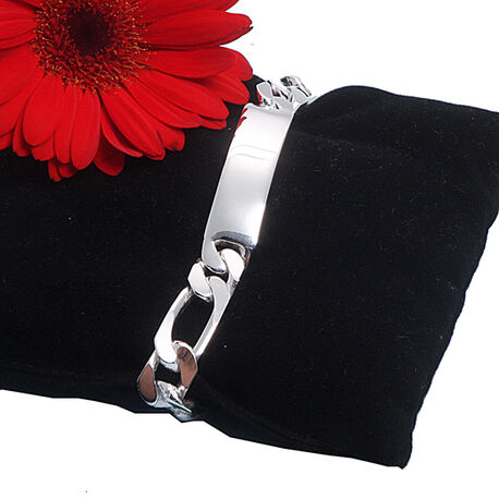 Zilver naamplaat armband voor heren