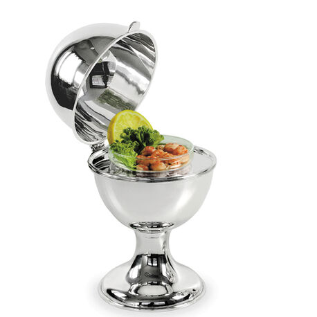 Verzilverde salade koeler