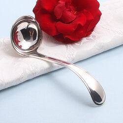 Zilveren juslepel enkelfilet 14 cm.
