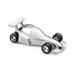 Verzilverde spaarpot racewagen formule 1