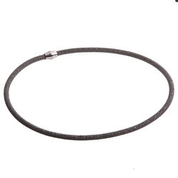 Zilveren Collier Zwart Zic681z