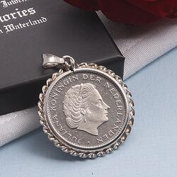Zilveren Munthanger Koning Juliana