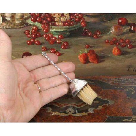 18e eeuws zilveren miniatuurtje bezem