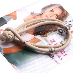 Leren armband beige van Zinzi ch-a22lb