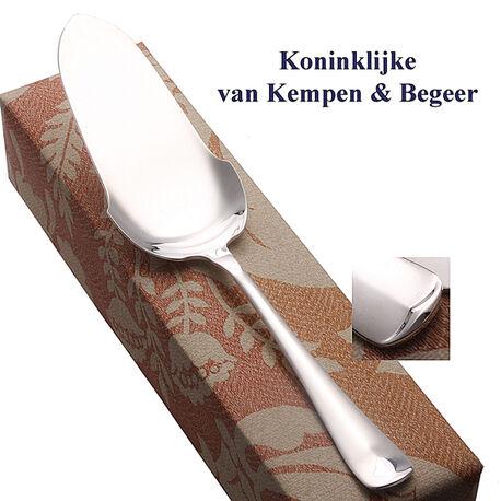 Zilveren taartschep van Kempen haags lofje