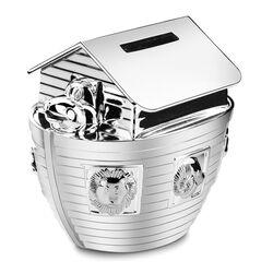 Zilverkleurige spaarpot Ark van Noach 6814261