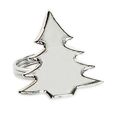 Verzilverde servetring servetband kerstboom