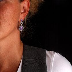markasiet oorbellen met amethist