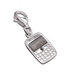 Zilveren bedel blackberry voor bedelarmband
