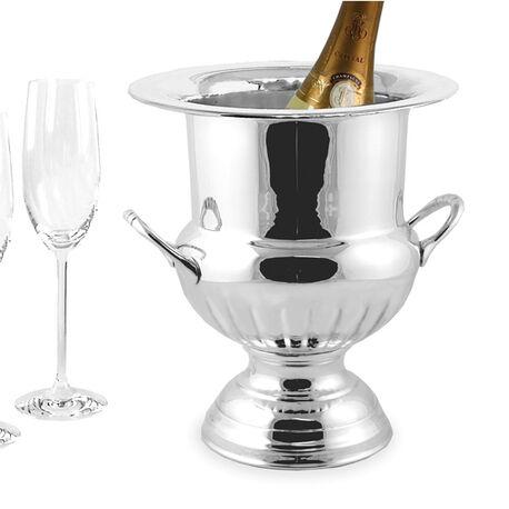Verzilverde wijnkoeler klassiek Queen anne model