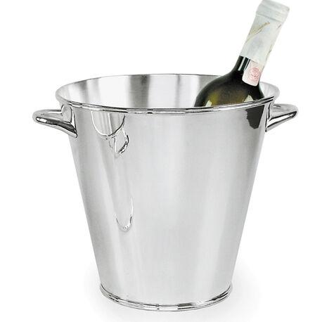 Verzilverde wijnkoeler