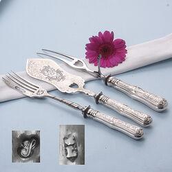 zilveren serveerset 3 delig Biedermeier Lintveld Sr