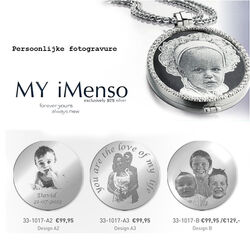 Persoonlijke fotogravure MY iMenso  33 mm 331017