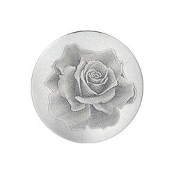 Zilveren Munt 33mm Gravure Roos 330274