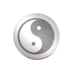 Zilver gravure munt Yin Yang 33mm 330283