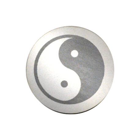 Zilveren Munt Gravure Yin Yang 33mm 330283